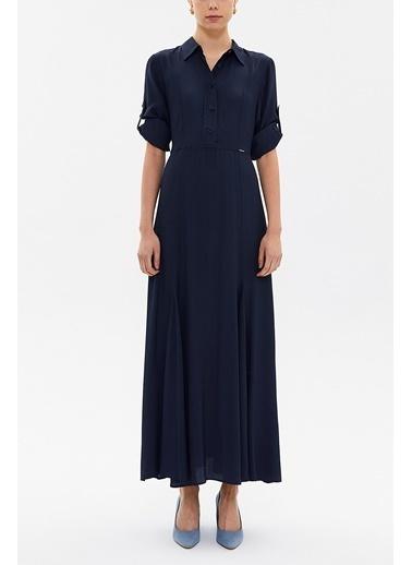 Societa Lastikli Uzun Elbise 92975 Lacivert